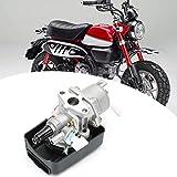 Carburador de motor con 2 piezas de repuesto de filtro de aire de plástico, accesorio de motocicleta de carburador para mini quad ATV Dirt Bike Minimoto Pocket Bike Go Kart Buggy, 47CC/49CC