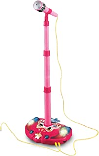 LilPals Princess Karaoke -Children's Toy Stand Up Microphone Play Set w/ Built-in MP3 Player, Speaker, Adjustable Height (Pink)