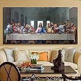 Leonardo Da Vinci dernier souper chrétien jésus Christ Judas toile peinture mur Art affiche imprime chambre salon Studio bureau décor à la maison murale