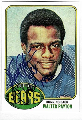1976 Topps #148 WALTER PAYTON Rookie Card Chicago Bears Facsimile Autograph Auto REPRINT - Football Card (Auto Autograph Card)