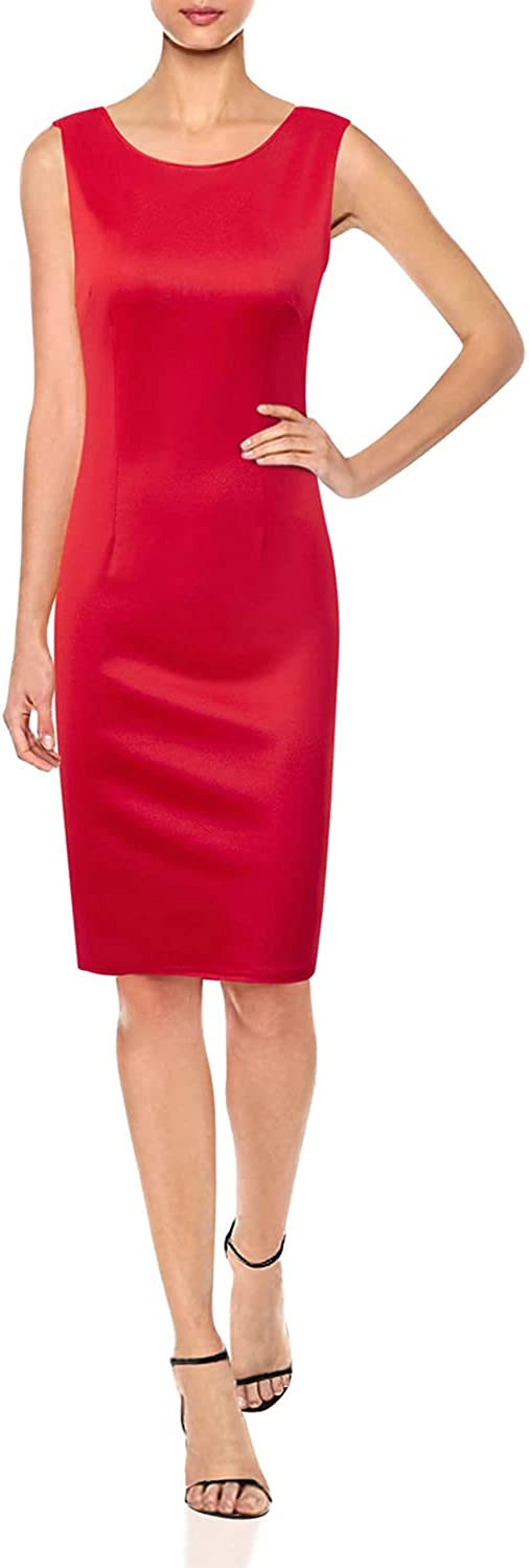 Womens Elegant Sleeveless Lace Patchwork Sheath Pencil Dress Bowknot Cocktail Party Bodycon Dress
