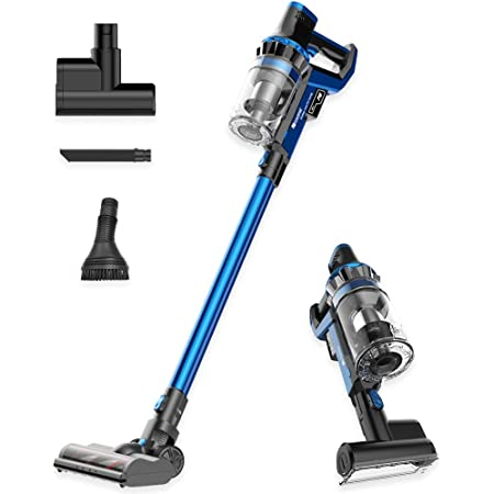 Proscenic P10 Cordless Vacuum Cleaner, 22000Pa Powerful, LED Touch Screen, 4 Adjustable Suction Modes, Removable Battery, 4-in-1 Handheld for Carpet Hard Floor Car Pet Hair, Blue