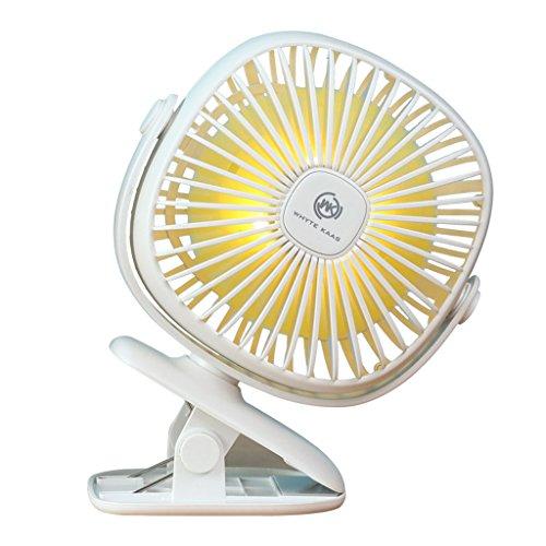XULAN Mini-ventilator, oplaadbaar, met clip, USB-ventilator, stil, klein formaat, voor kinderen, geen pijnlijke handen van het huis, draagbaar voor het opbergen van stroom