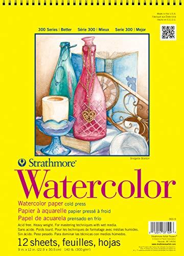 Pro-Art Strathmore Acuarela Espiral Bloc de Papel (30,5x 30,5cm, 12Hojas)