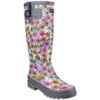 [Cotswold] (コッツウォルド) レディース フラワーパワー 防水ウェリントン 婦人長靴 レインブーツ 女性用 (3 UK) (グレー)