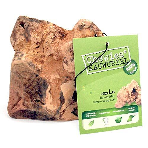 Chewies Kauwurzel für Hunde - Kauspielzeug aus Baumheide Wurzel - splitterfrei & 100% natürlich - für lang anhaltenden Kauspaß - Größe L