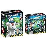 PLAYMOBIL Ghostbusters Muñeco Marshmallow, a Partir de 6 Años (9221) + Cazafantasmas Spengler and Ghost Playset de Figuras de Juguete, Multicolor, 6,6 X 14,2 X 14,2 Cm (9224)