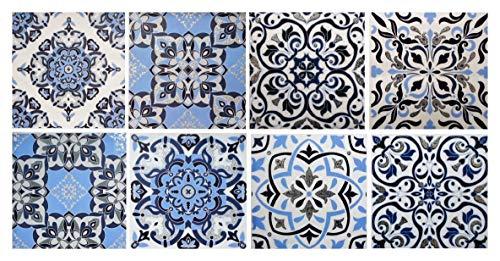 GODE E24 - Juego de 8 adhesivos para azulejos (15 x 15 cm)
