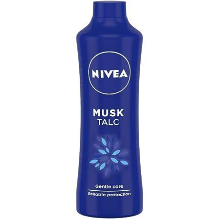 NIVEA Talcum Powder for Men & Women, Musk, For Gentle Fragrance & Reliable Protection Against Body Odour, 400 g