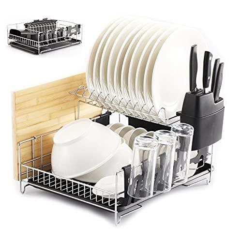 PremiumRacks Professional Dish Rack - 304 Stainless Steel - Fully...