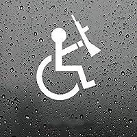 創造性障害のライフル車のステッカー車の装飾カバーの傷の付いたアクセサリーデカールパーソナリティPVC防水デカール18 x 13 cm (Color : 2, Size : 24 x 17 cm)