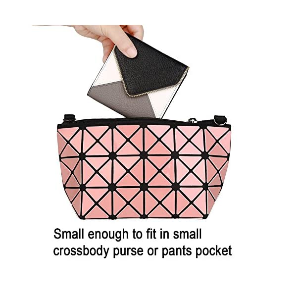 Lavemi RFID Blocking Small Compact Mini Bifold Credit Card Holder Leather Pocket Wallets for Women