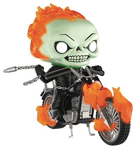 Funko POP! Marvel: Ghost Rider con moto, brilla en la oscuridad