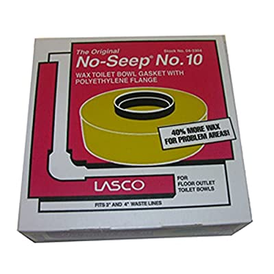 LASCO Extra Thick Toilet Bowl Wax Ring with Polyethylene Flange