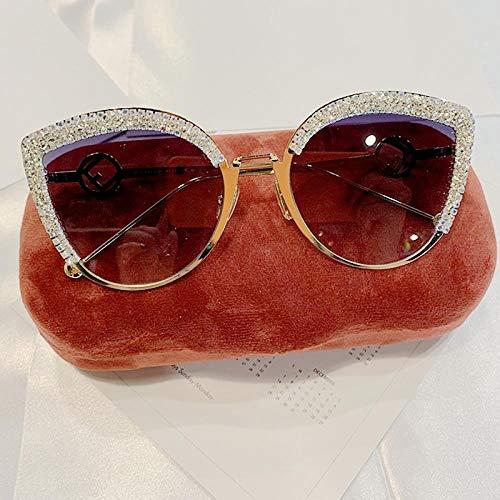 Jbwlkj 2019 Damenbrille Cat Eye Sonnenbrille Damen Markendesignerin Italien Mode Sonnenbrille Female Gradient Eyewear Shades-Silver