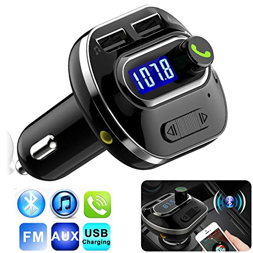 LFJNET Best Choice Bluetooth Wireless Car AUX Stereo Audio Receiver FM Radio Adapter USB Charger