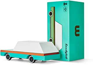 Candylab Toys - CandyCar Teal Wagon - Solid Beech Wood