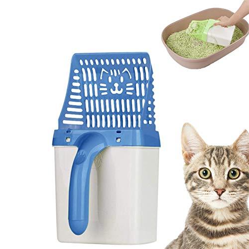 Cheaonglove Paletta Lettiera Gatti Paletta Lettiera Gatto Kitten Litter Scoop Gatti Scooper Pooper Cucchiaio per lettiera con Supporto Paletta per lettiera Blue