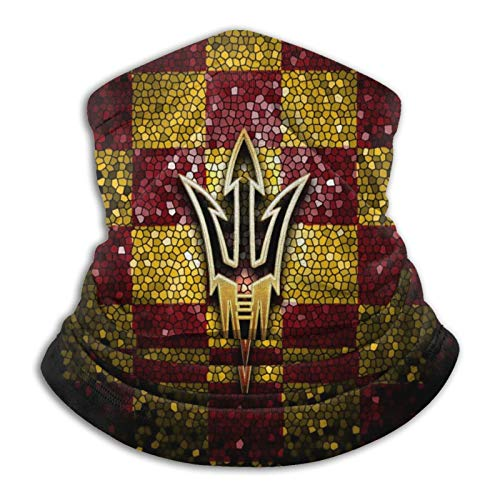 Arizona State Sun Devils University Face Mask Anti-Uv Neck Gaiter Warmer Mouth Cover Scarf Beanie Hat Balaclavas with Filters