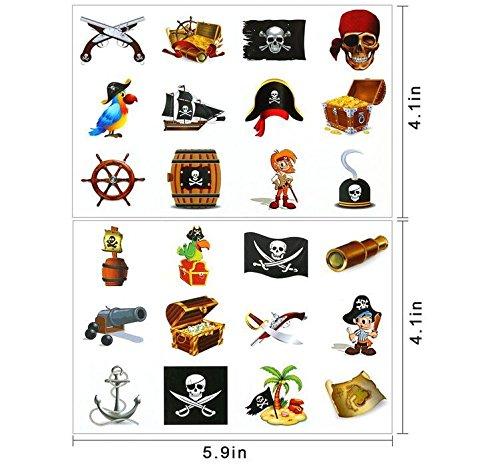 Tatuajes Pirata Temporales para Niños