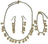 Aluyouqi Co.,ltd Collar Aretes De Perlas Conjuntos De Pulseras Niñas Niños Bola Conjunto De Joyas De Perlas Regalos De Micronesia Neklace para Mujeres