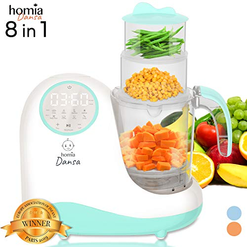 NOT for US 220V - Baby Food Maker Chopper Grinder - Mills and Steamer 8 in 1 Processor for Toddlers - Steam, Blend, Chop, Disinfect, Clean, 20 Oz Tritan Stirring Cup, Touch Control Panel,Auto Shut-Off