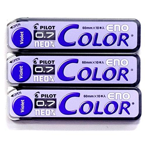 Pilot Color Mechanical Pencil Lead Eno, 0.7mm, Violet, 10 Lead ×3 Pack/total 30 Leads (Japan Import)