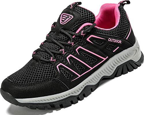 Lvptsh Zapatillas de Trekking para Mujer Transpirable Zapatillas de Senderismo Calzado de Trekking AL Aire Libre Antideslizantes Botas de Montaña,Rosa-1,EU41