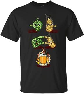 Brew Beer Fusion Malted Barley Hops Men's Funny T-Shirt Black