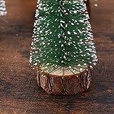 FENICAL Mini Weihnachtsbaum Künstlicher Weihnachtsbaum Christbaum Grün Tannenbaum künstliche Tanne 6pcs - 4
