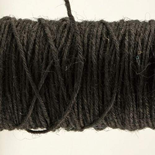 Vaessen Creative Jute Twine, Black, 100 m x 2 mm, for Gift Wrapping, Decorating, Floral Arrangements and Papercrafts
