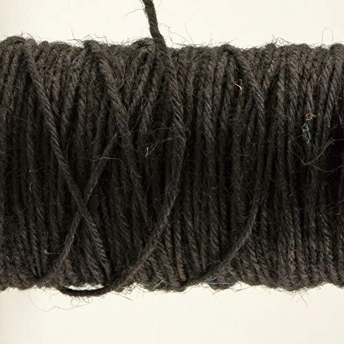 Vaessen Creative Cordel de Yute, Negro, 100 m x 2 mm, para Envolver Regalos, Decoración, Arreglos Florales y Trabajos de Artesanía en Papel
