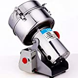 FHKBB 2000G Swing Type Electric Grain Mill Scalegrain Mill Stainless Steel Herb Grinder Pulverizer for Dust Multifunctional Grain Coffee Spice Cereal Herbal Medicine Chinese,GB 220V