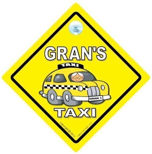 Grand panneau de Taxi Sign, Grans Lot Taxi Voiture, Grans Lot Sticker Taxi Sign, panneau bébéà bord, pour voiture, Grans Lot Panneau taxi, Taxi Sign, bébéà bord, autocollant, panneau bébé, Nana signe voiture de Taxi, drôle, Retirement Sign, Joke voiture Panneau