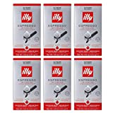 illy Classico E.S.E. Pods , Medium Roast, Classic Roast with Notes of Chocolate & Caramel, 100% Arabica Coffee, All-Natural, No Preservatives, 18 Count (Pack of 6)
