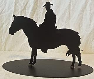 Scotty's Metal Art Cowboy Rider Table Top-Powder Coated Black