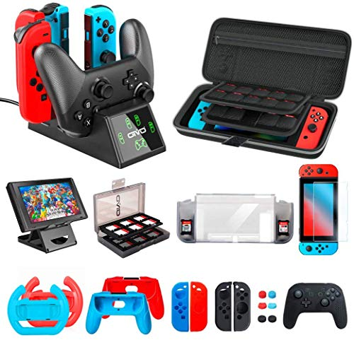 Accessories Kit Bundles Compatible with Nintendo Switch Starter, OIVO Accessories Bundle Kit for Nintendo Switch Console (All in 1)