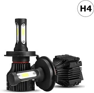 Auto-Ideas 2pcs H4 9003 HB2 led head lamp Hi/Lo Beam All in one led head light Kit 6500K 8000LM Bright White fog light 72W Bridgelux COB Chip automotive light Car LED Headlight Bulb ALS-E236W-H4
