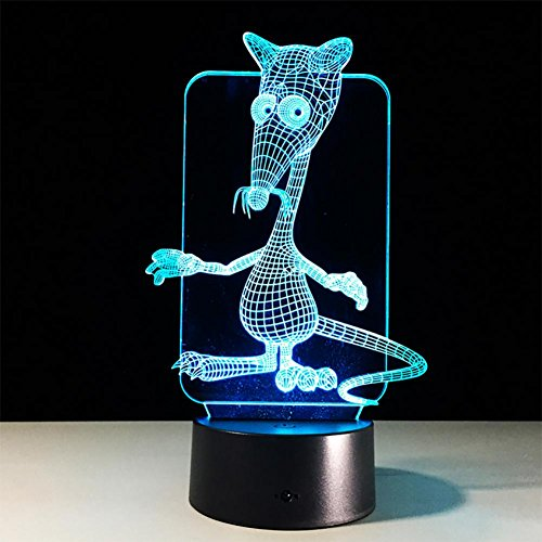 baby Q 3D LED Nachtlicht Lampe, Maus Bunte Touch Lichter, kreative Geschenk Lichter, USB Powered Lights