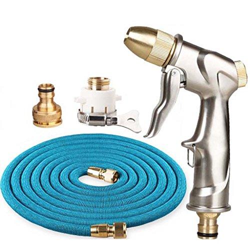 Pistolet à eau de lavage de voiture, ensemble de lavage de voiture de tuyau à haute pression escamotable à la maison, pour la pelouse d'arrosage de maison de balayage de lavage de voiture
