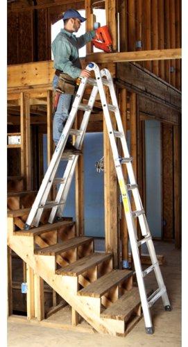 Multipurpose Ladder, 26 ft, IA, Aluminum