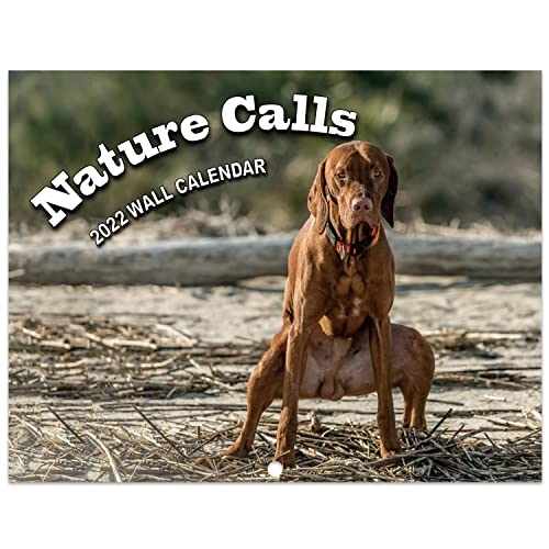 2022 Calendar - Pooping Dogs Wall Calendar 2022 from Jan 2022- Dec 2022, Funny Dog Calendar Gag Gifts,11' x 17' (Open), 11' x 8.5'(Closed), Perfect 2022 Calendar for White Elephant Gifts Funny