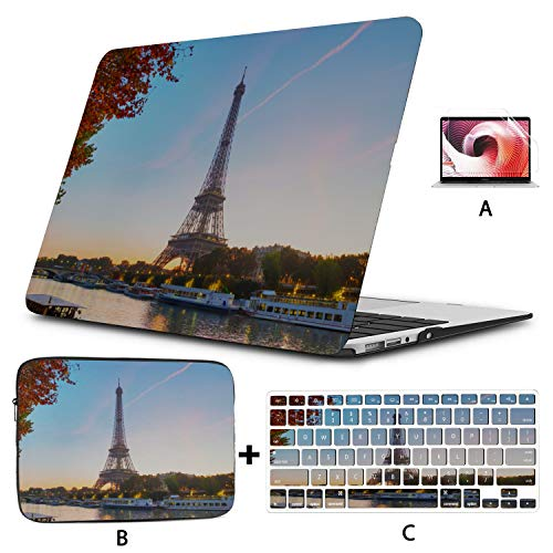 Cover MacBook Pro Scenic Freedom Travel City French 2018 MacBook Pro Case Hard Shell Mac Air 11'/13' Pro 13'/15'/16' with Notebook Sleeve Bag for MacBook 2008-2020 Version
