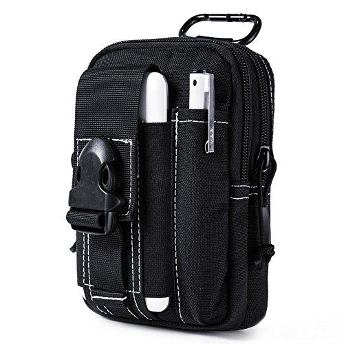OneTigris Compact MOLLE EDC Pouch Utility Gadget Pouch (Black)