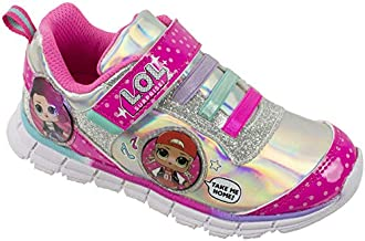 L.O.L Surprise! Girls Sneakers, Light Up Athletic Sneaker, MC Swag and Rocker, Pink, Girls Size 1