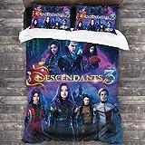 YiwuYshi Descendants 3 Soft Microfiber Bedding Set 3-Piece Pillowcase Quilt Cover 86'x70