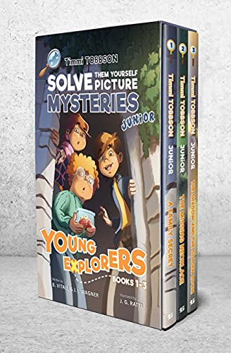 Timmi Tobbson Junior Boxed Set: Timmi Tobbson Junior (6-8) Children's Detective Adventure Books 1-3 (Solve-Them-Yourself Mysteries Book Series for Boys and Girls (Cover may vary))
