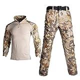 Ropa Militar Unisex CP Camisas Pantalones Traje Fuerza Especial Ejército Táctico Uniforme Airsoft Ropa De Trabajo,Grey-Medium
