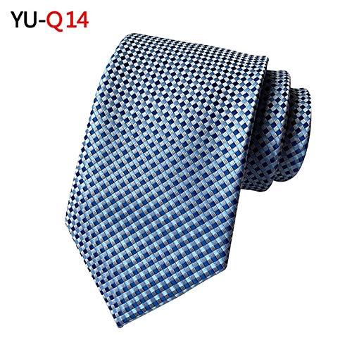 DJLHNELEGANTE Corbata de seda jacquard escocesa de 8 cm para accesorios de hombre para corbata formal de hombre