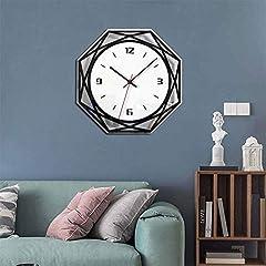 TIANYOU Wall Clock Silent No Ticking Bracket Clock Modern Geometry Polygon Wall Clock Acrylic Black and White Mirror Wall Clocks Simplicity is The Clock / 28 * 28cm #3